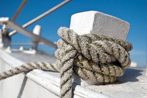Knoten auf einem Boot